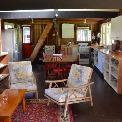 Snuggle up in front of the fire at Ironbark Cottage